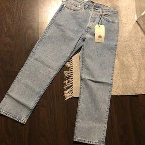 527175d4c45 Levi's Jeans | Levis 501 Original Cropped In Stone Throw | Poshmark